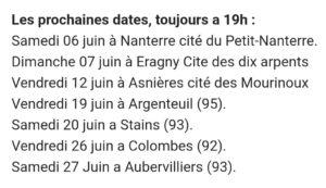 festival d'Avignon 2021, dates de représentation