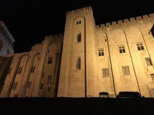 Visite de nuit d'Avignon, palais des Papes